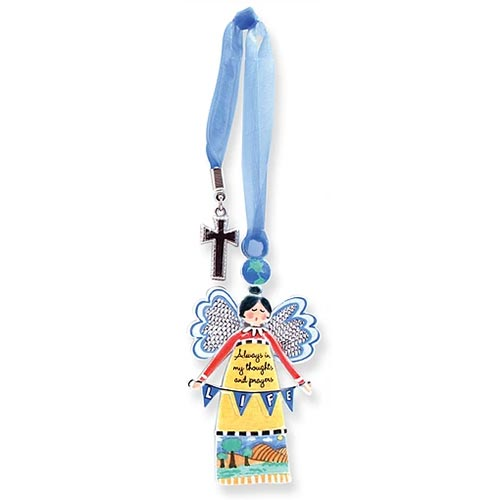 Always An Angel w/Charm Life Angel Ornament