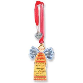 Always An Angel w/Charm Mom Angel Ornament