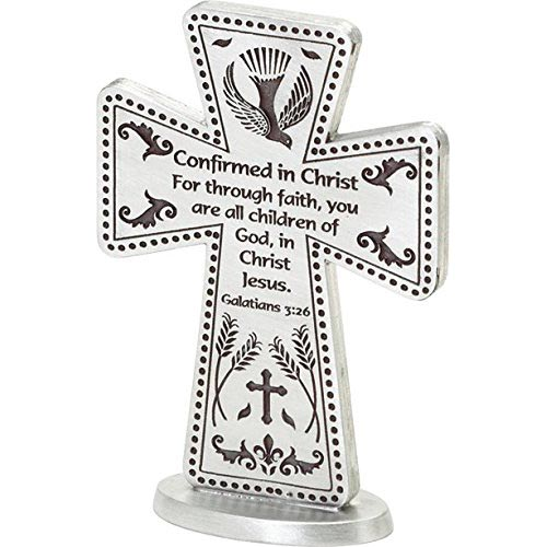 Cathedral Art SQP102 Confirmation Standing Message Cross, 3-Inch