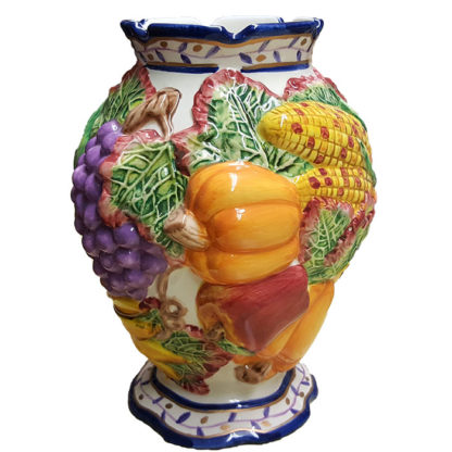 Autumn Themed Large Ceramic Vase Bella Casa by Ganz