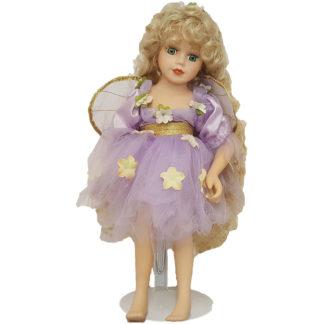"Porcelain Doll Wearing Angel Dress 14"" H"