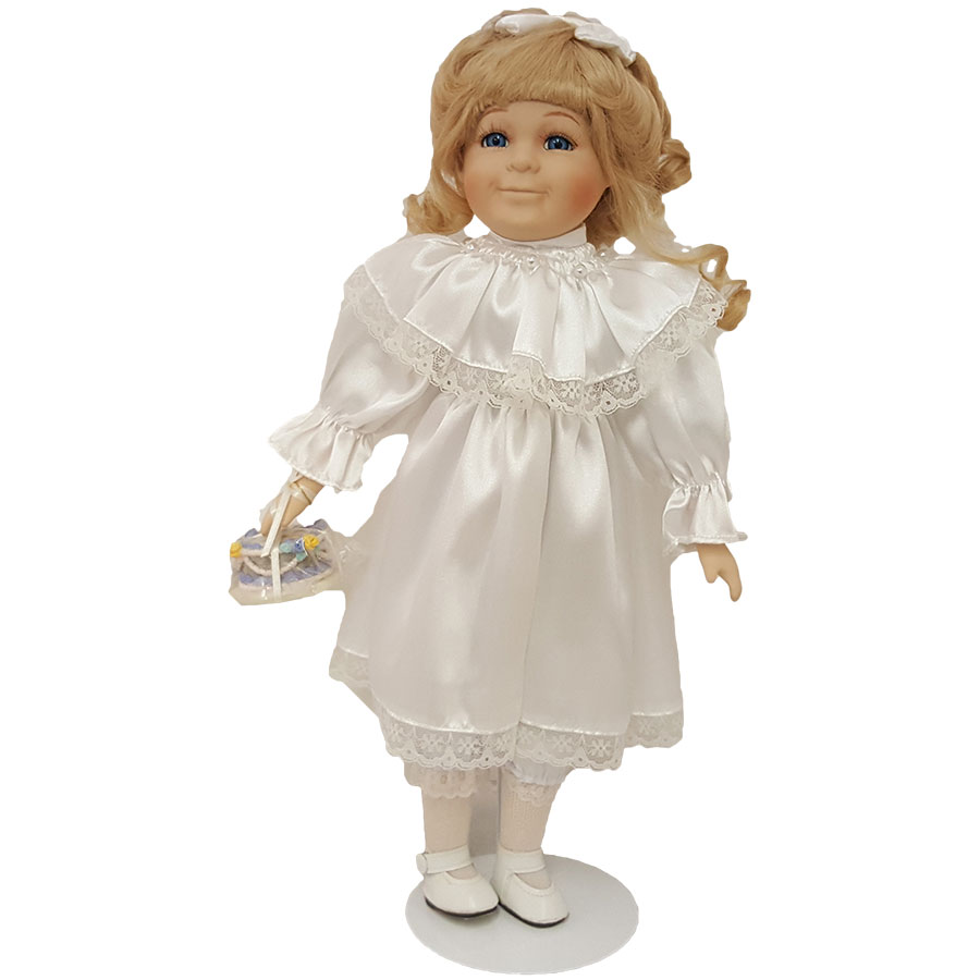 """Morning International Doll Crafter Abby 17"""" Porcelain"""