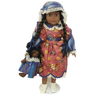 """Morning International Doll Crafter Linda 18"""" Porcelain"""