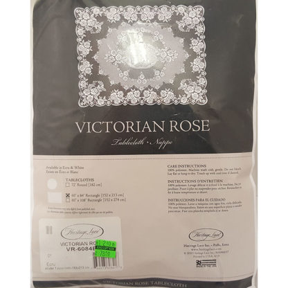 Herritage Lace Victorian Rose Tablecloth Ecru