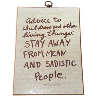Advice by Emanuel Feldman Textual Art Wood Plaque