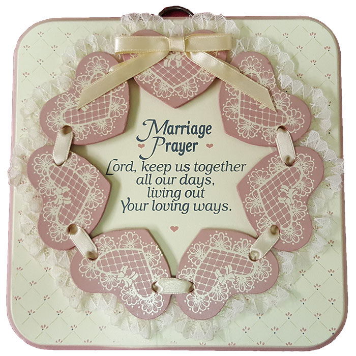 Dexsa Marriage Prayer Textual Art Wood Plaque