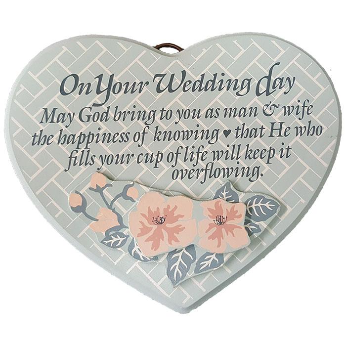 Dexsa On Your Wedding Day Textual Art Wood Plaque