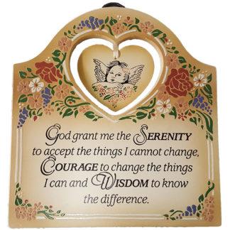 Dexsa Serenity Prayer Textual Art Wood Plaque