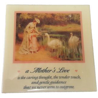 Dexsa A Mother's Love Textual Art Wood Plaque
