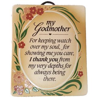 Dexsa My Godmother Textual Art Wood Plaque