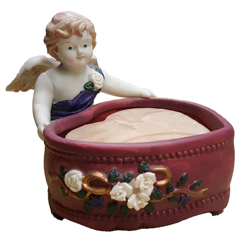 Potpourri Press Candy Dish Candle Holder Cherub