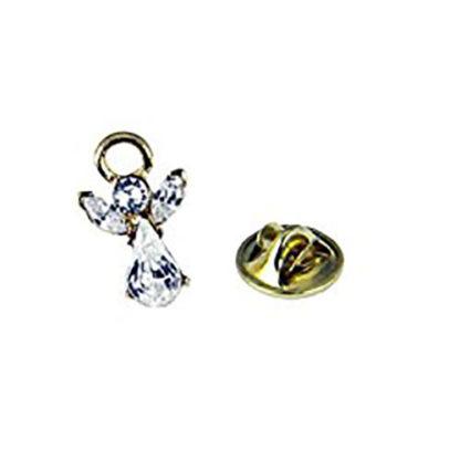 6030600 April Crystal Birthstone Angel Pin Guardian Lapel Brooch Tie Tack