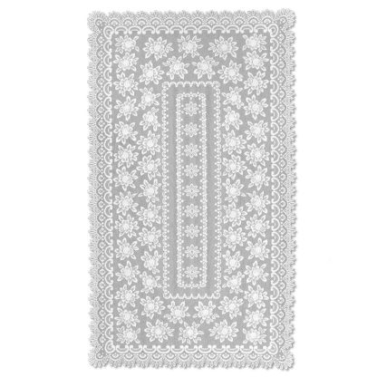 """Herritage Lace Meadow Lace Rectangle Tablecloth Ecru 72"""""""