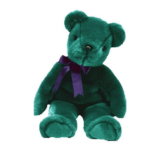 TY Beanie Buddy - Teal Old Face Teddy