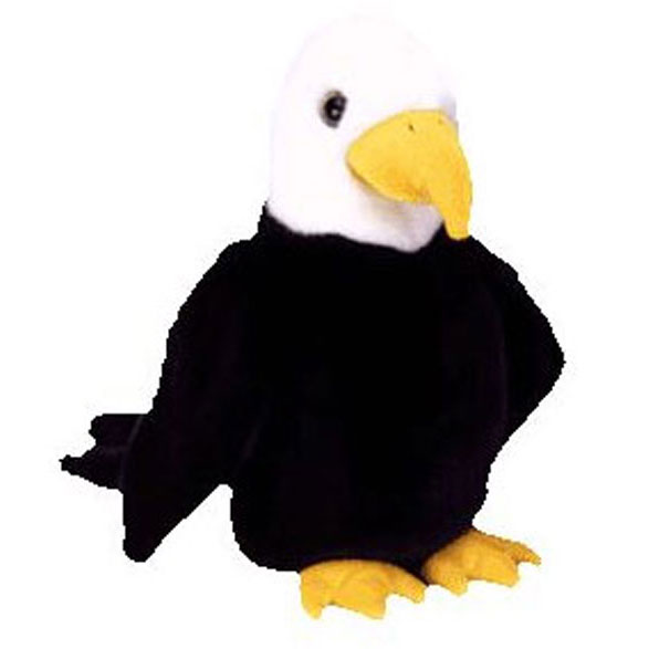 TY Beanie Buddy - Baldy the Bald Eagle (10 inch)