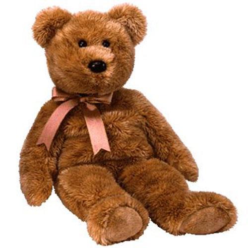 TY Beanie Buddy - Cashew the Bear (14 inch)