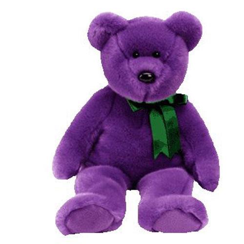 TY Beanie Buddy - Employee the Purple Bear (14 inch)