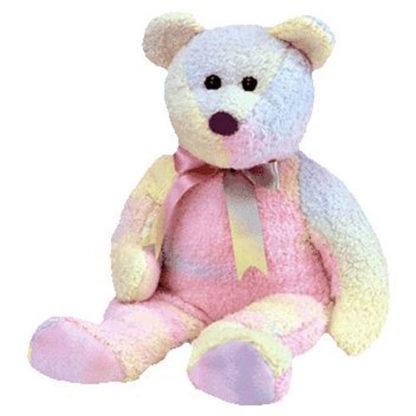 TY Beanie Buddy - Groovy the Ty-Dyed Bear (14 inch)