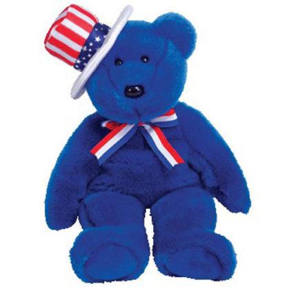 TY Beanie Buddy - Sam the Bear (Blue Version)