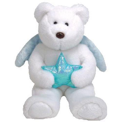 TY Beanie Buddy - Star the Bear Blue Star (14 inch)