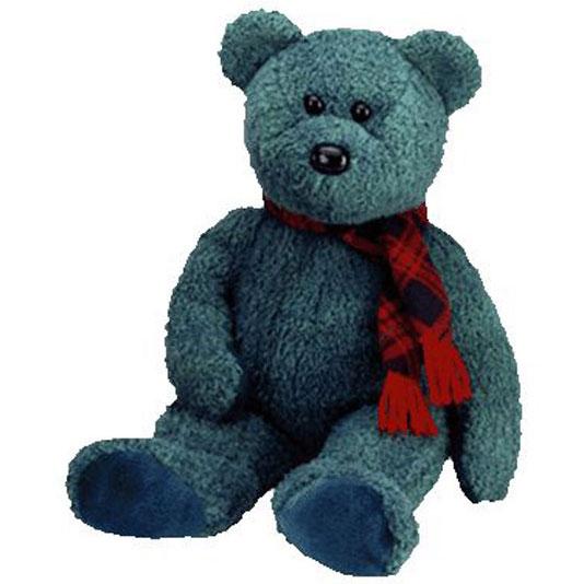 TY Beanie Buddy - Wallace the Bear (14 inch)