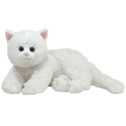 TY Classic Plush - Crystal the White Cat (13 Inch)