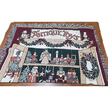 Fieldcrest Vintage Antique Toys Throw Blanket 46 x 68