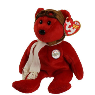 TY Beanie Baby - Bearon the Bear (Red Version)