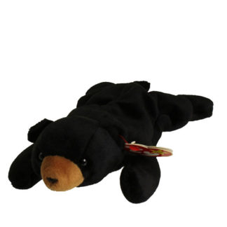 TY Beanie Baby - Blackie the Black Bear (8.5 inch)