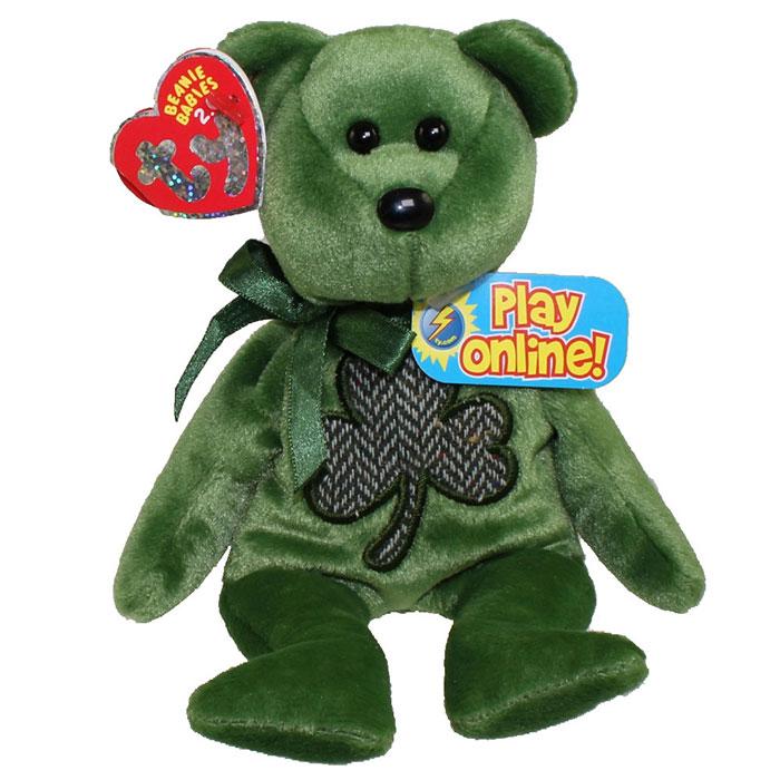 TY Beanie Baby 2.0 - Luckier the Irish Bear