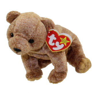TY Beanie Baby - Pecan the Gold Bear (5.5 inch)
