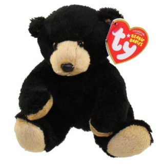 TY Beanie Baby - Snacks the Black Bear (5 inch)