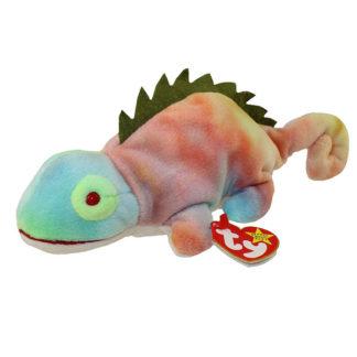 TY Beanie Baby - Iggy the Iguana (tye-dyed w/ spikes) (9.5 inch)