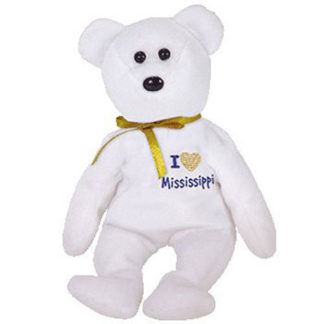 TY Beanie Baby - Mississippi the Bear (8.5 inch)
