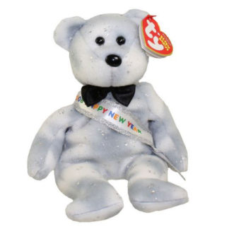 TY Beanie Baby - New Year 2008 the Bear (8.5 inch)