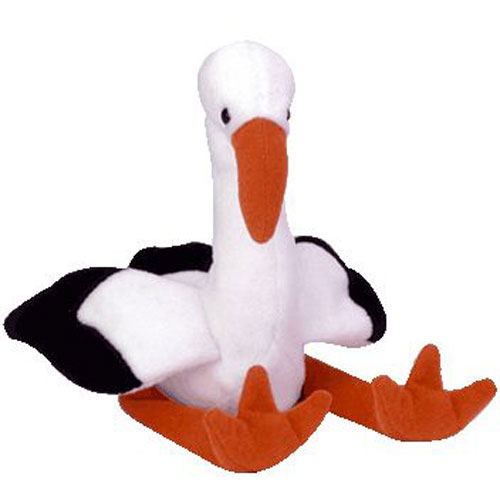 TY Beanie Baby - Stilts the Stork Bird (6.5 inch)