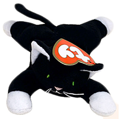 TY Teenie Beanie Baby - Zip the Black Cat