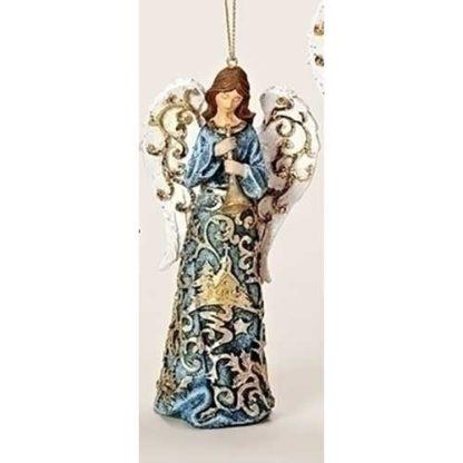 Gold Paper Cut Angel Ornament w/Horn