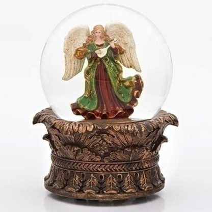 Angel With Lyre Dome Wind Up 100mm