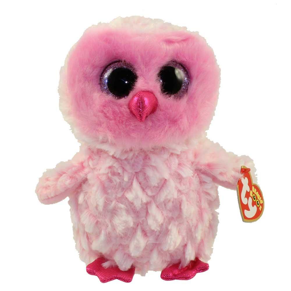 Ty Beanie Boos - Twiggy the Pink Owl