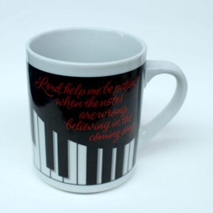 piano teacher mug, prayer