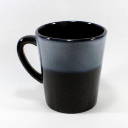 Blue Black tall mug with words harley mama
