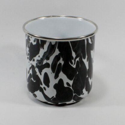 Adult Mug, Black Swirl Enamelware. The Bob Limbulohe Collection.